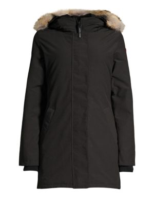 Victoria Coyote Fur Trimmed Down Parka by Canada Goose