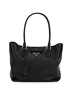 3c34d7749678 QUICK VIEW. Prada. Triangle Logo Leather Tote