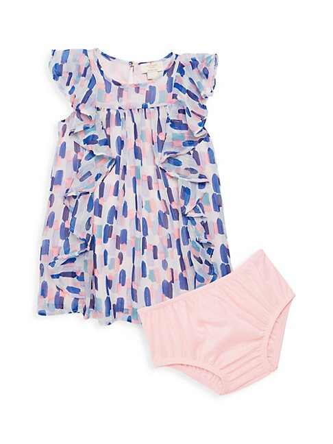 Baby Girls 2Piece Abstract Ruffle Dress  Bloomers Set