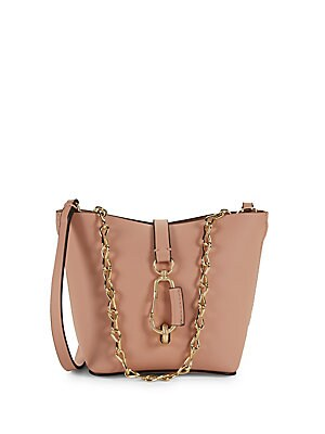 bdc0b9040b61 ZAC Zac Posen - Mini Belay Chain Leather Hobo Bag