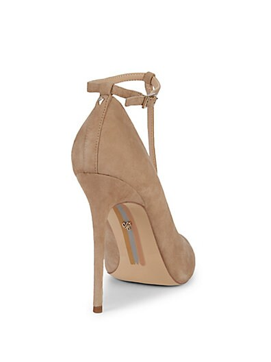 ... Sam Edelman Dorinda Ankle-Strap Suede Stiletto Pumps bbd502da3b