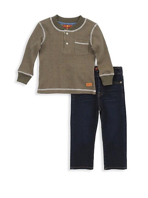 Little Boys 2Piece Shirt  Jeans Set