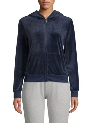 Juicy Couture Velvet Hooded Jacket