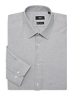 55e82adb20f QUICK VIEW. Boss Hugo Boss. Enzo Pin Check Dress Shirt
