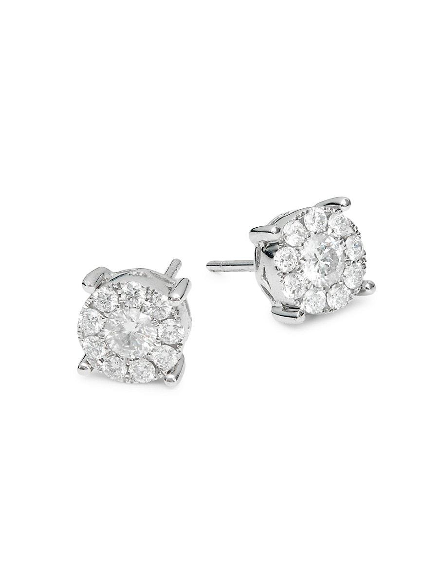 Women's 14K White Gold & 0.81 TCW Diamond Stud Earrings