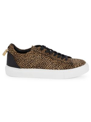 Buscemi Unisex Lock Spotted Calf Hair Tennis Sneakers