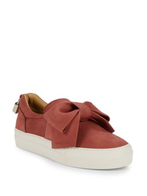 Buscemi Low-Top Suede Platform Sneakers