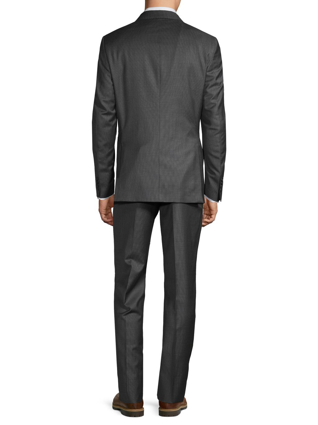 Saks Fifth Avenue Made in Italy Slim-Fit Micro-Check Wool Suit