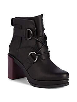 b1264ff4dfbd6 Sorel. Margo Leather Lace-Up Platform Booties