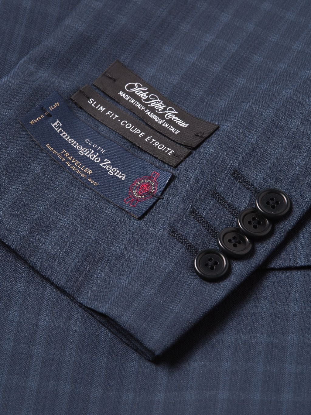 Saks Fifth Avenue Made in Italy Slim-Fit Mini Check Wool Suit