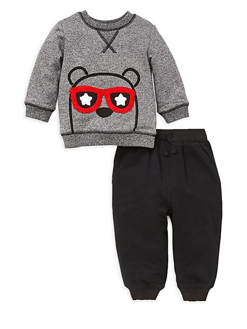 LITTLE ME | Baby Boy'S 2-Piece Bear Cotton Sweatshirt & Pants Set | Goxip