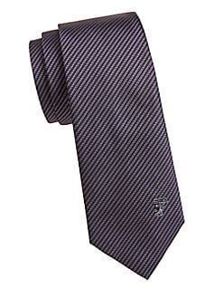 57f9aced2b32 Silk Diagonal Stripe Tie VIOLET. QUICK VIEW. Product image