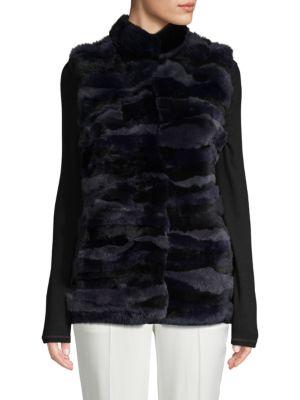 Love Token  Rex Rabbit Fur Vest