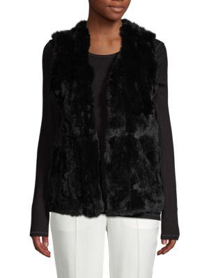 Love Token  Sleeveless Rex Rabbit Fur Vest