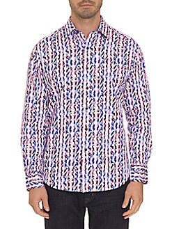 bbbbaff4151 Product image. QUICK VIEW. Robert Graham. Classic-Fit Striped Button-Down  Shirt