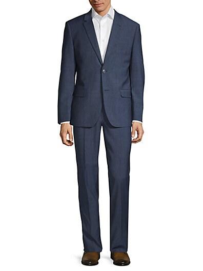 72778b66426 Ben Sherman Slim-Fit Textured Wool Blend Suit ...