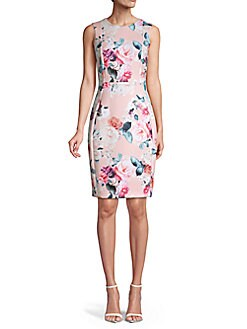 QUICK VIEW. Calvin Klein. Rose Floral Sheath Dress