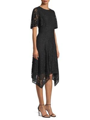 Donna Karan LACE HANDKERCHIEF DRESS