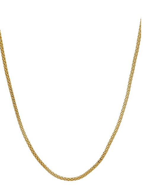 SAKS FIFTH AVENUE | 14K Italian Gold Popcorn Slider Necklace | Goxip