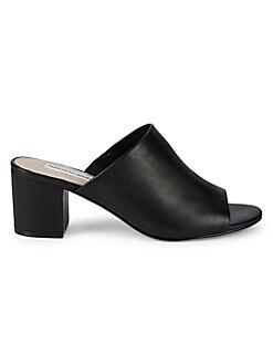 fefe17ae532e Saks Fifth Avenue. Aurora Leather Block Heel Sandals