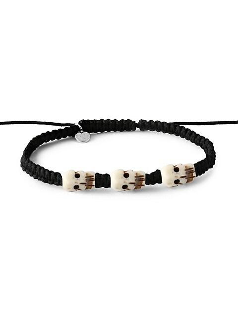 Tateossian Silver & Onyx Bracelet
