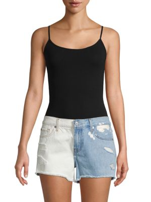 7 For All Mankind Shorts Distressed Denim Cut-Off Shorts