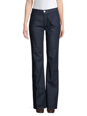 Joie Jeans The Jarvis High-Rise Dark Wash Flare Jeans