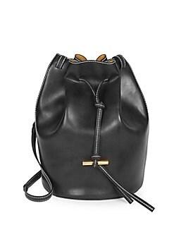 QUICK VIEW. Stella McCartney. Vegan Leather Medium Belted Bucket Bag 9d16c5b6a529c