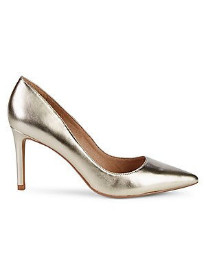 Gia Metallic Leather Pumps by Pure Navy