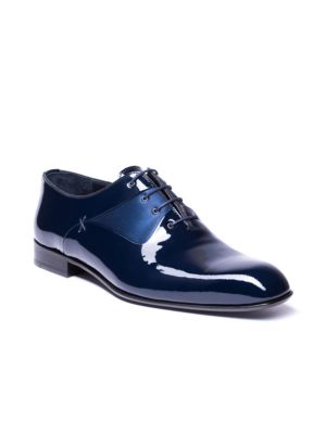 Jared Lang Leathers Marco Two-Tone Leather Oxfords