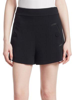 Derek Lam Shorts High Waist Crepe Shorts