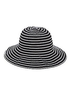 d60a873b1479f Striped Cloche Hat BLACK WHITE. QUICK VIEW. Product image