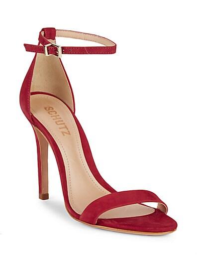... Schutz Classic Suede Ankle-Strap Sandals 902043c302