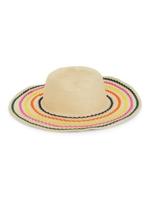 e5d57a87e40 Bcbgeneration Rainbow Stripe Straw Hat In Natural
