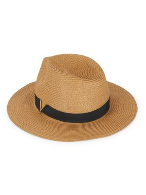 Vince Camuto Banded Fedora Hat In Tan  db81f5f7540