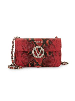 Valentino By Mario Valentino Crossbody Poisson Python-Embossed Leather Crossbody Bag