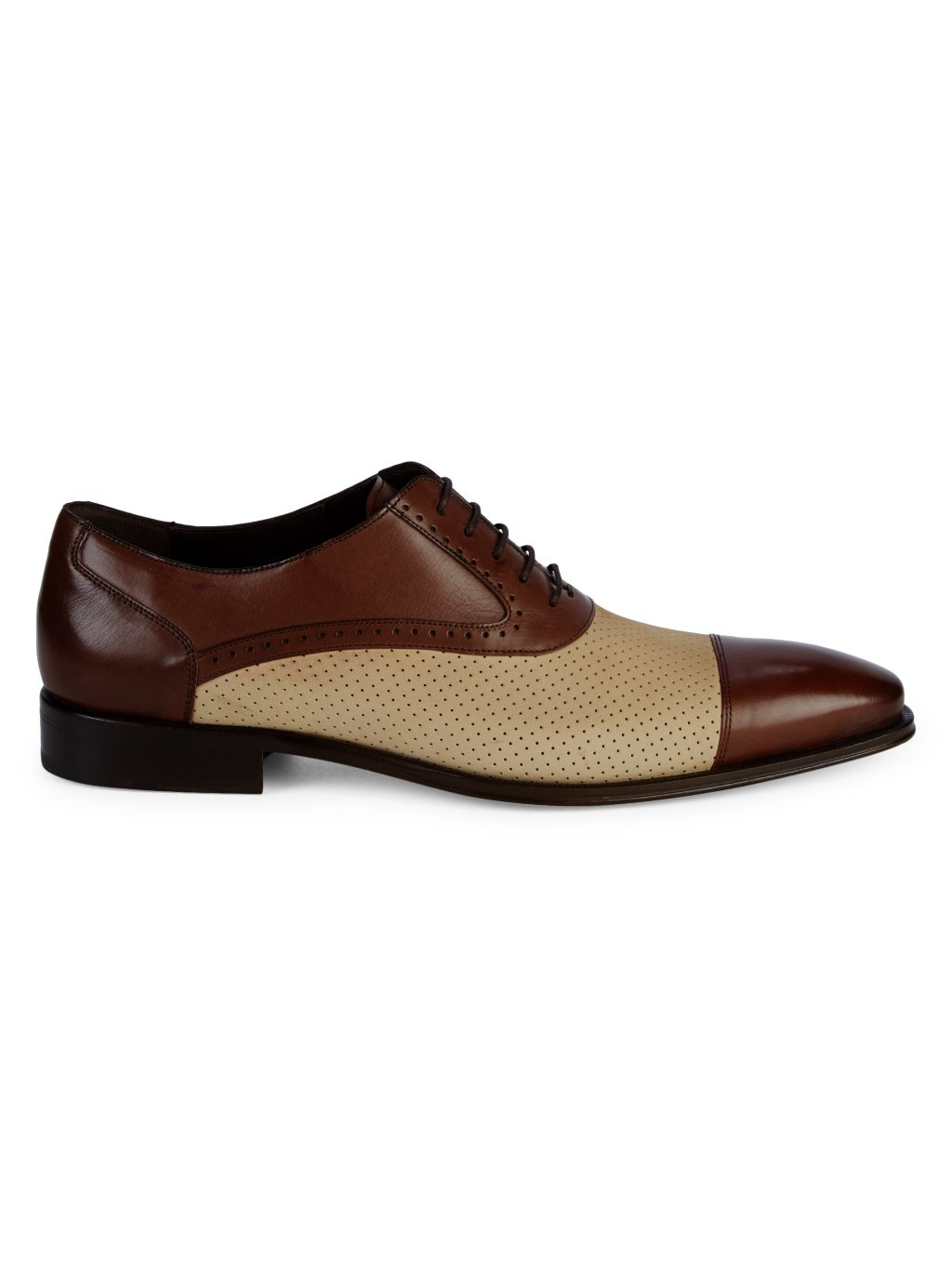 Mezlan Perforated Leather & Suede Oxfords