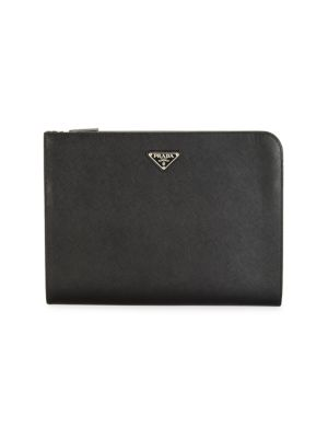 Prada Travel Saffiano Travel Leather Portfolio
