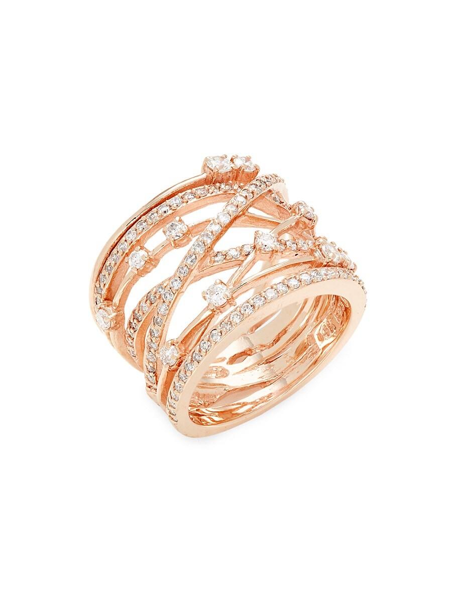 Women's 14K Rose Gold & Diamond Midi Ring