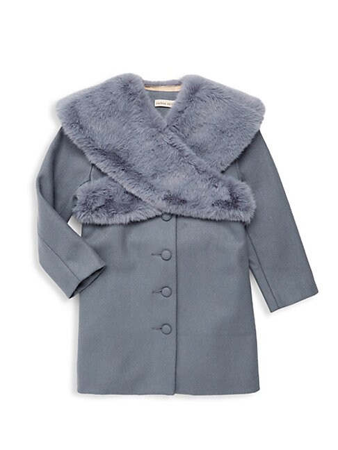 Littlle GIrls  Girls Cracker Faux Fur Coat