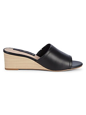 Limited Leather Wedge Mule Sandals by Steven By Steve Madden