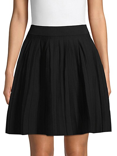 606a8040a3 Saks Fifth Avenue Pleated Cotton Blend A-Line Skirt ...