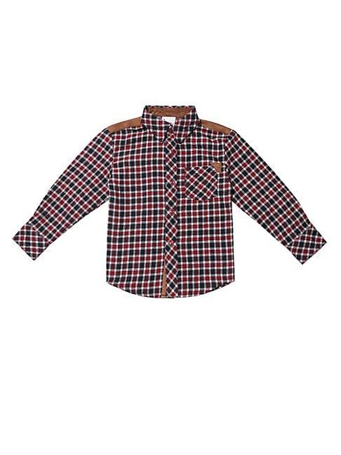Baby Boys Little Boys  Boys Plaid Flannel Shirt