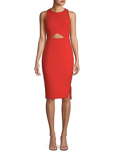 8545561729 BCBGMAXAZRIA Cut-Out Sheath Dress ...
