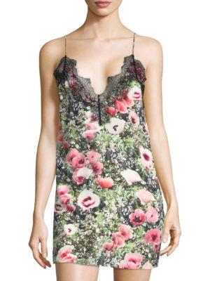 Fleur Du Mal Dresses Lace Applique Slip Dress