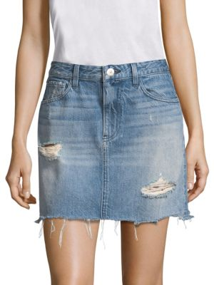 3x1 Skirts Celine Denim Mini Skirt