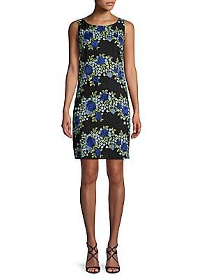 Calvin Klein - Embroidered Sheath Dress - saksoff5th.com 26b584da5a8