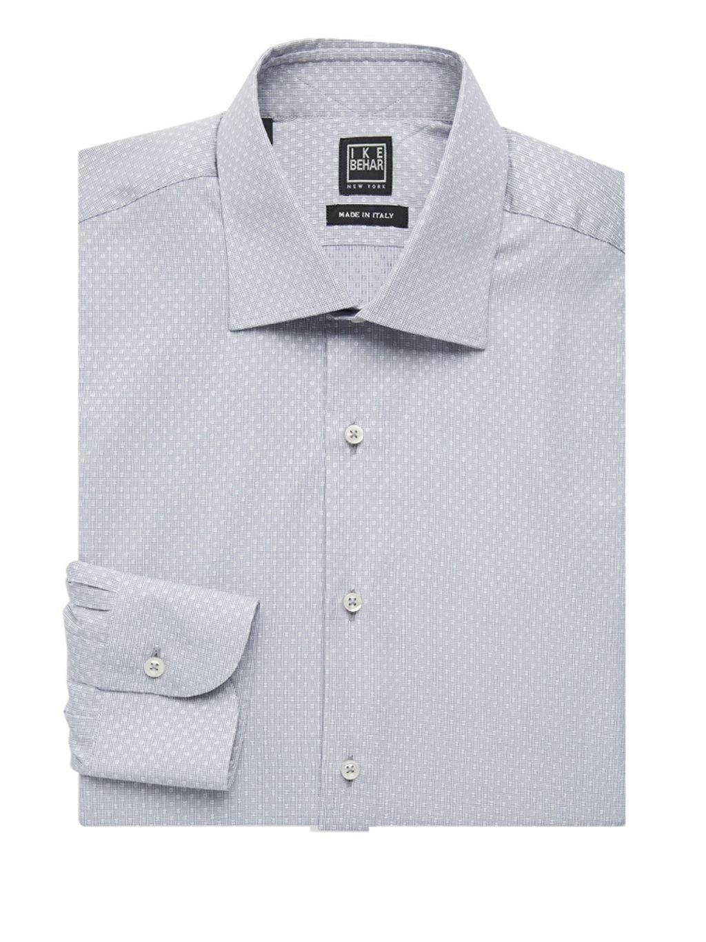 IKE by Ike Behar Regular-Fit Patterned Cotton Dress Shirt