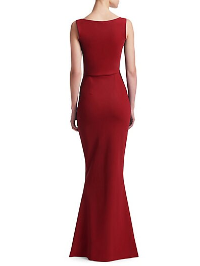 00e4fdc91c94b ... Chiara Boni La Petite Robe Sleeveless Ruched Waist Gown
