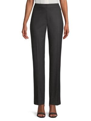 Elie Tahari Suits Leena Dotted Plain Weave Suiting Trousers